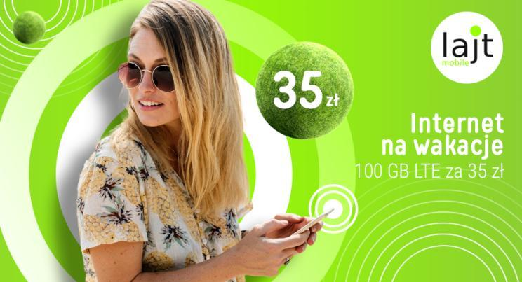 Wakacyjna oferta Lajt Mobile na internet
