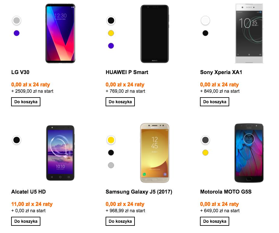 Orange ma duży wybór telefonów z abonamentem