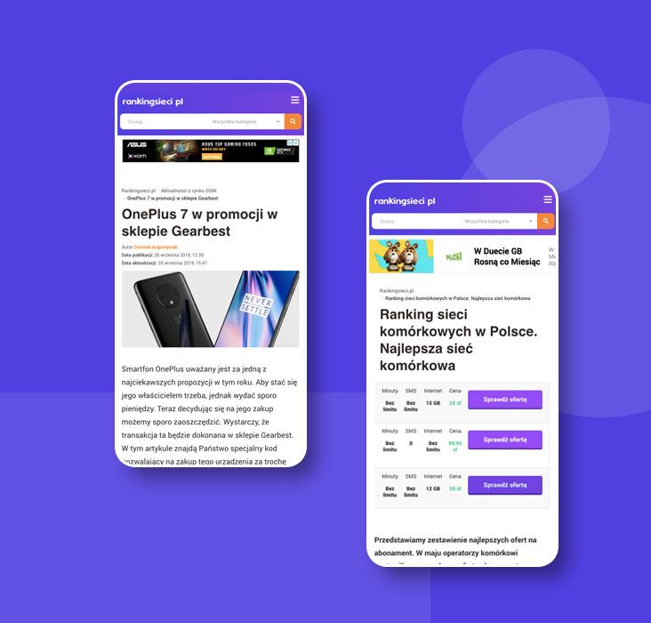 O nas Rankingsieci mobile