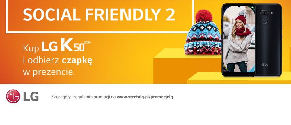 Plus – LG K50 z czapką zimową w prezencie